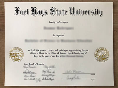 Copy A Fort Hays State University Fake Diploma Online