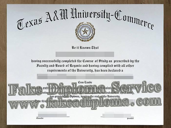 Fake Texas A&M University-Commerce Diploma