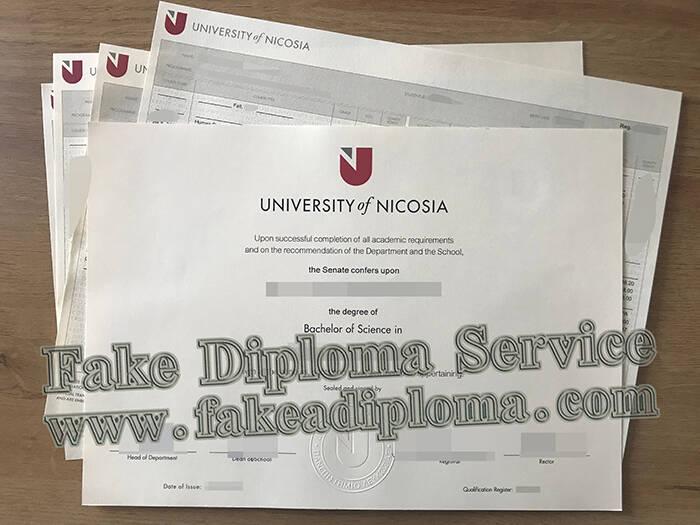 Fake University of Nicosia Diploma