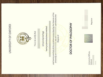 Copy University of Oxford Fake Degree Certificate Online