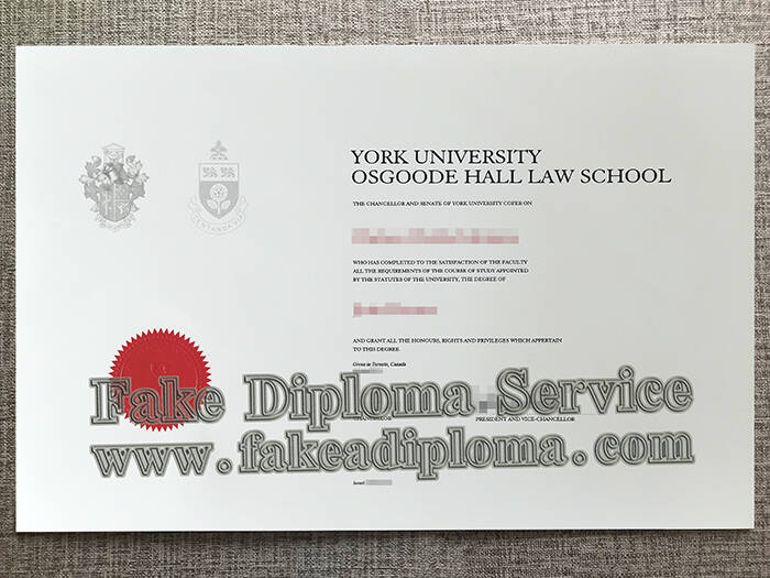 York University Osgoode Hall Law School Fake Diploma