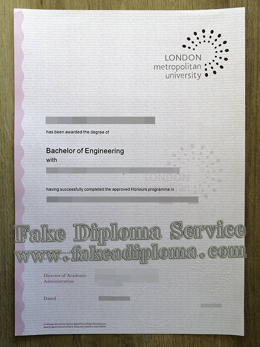 How to Copy a London Metropolitan University Fake Degree?
