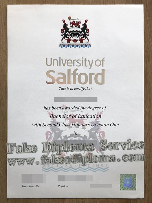Copy The University of Salford Fake Diplomas Online