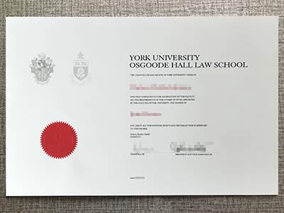 Buy York University Osgoode Hall Law School Fake Diploma