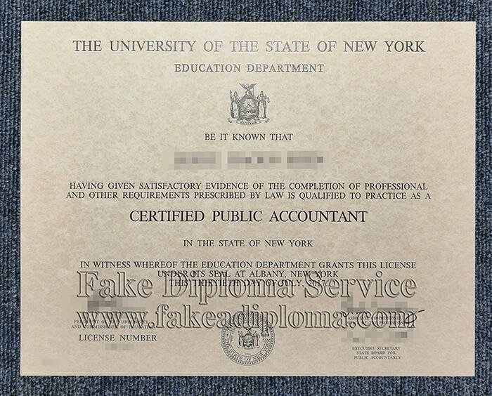 Copy The University of The State of New York Fake Degree
