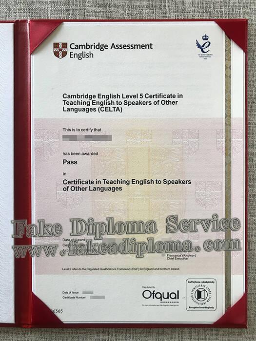 Cambridge English Level 5 Fake Certificate