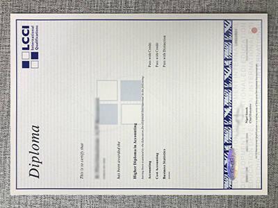 Buy Fake LCCI Diploma Certificate Online
