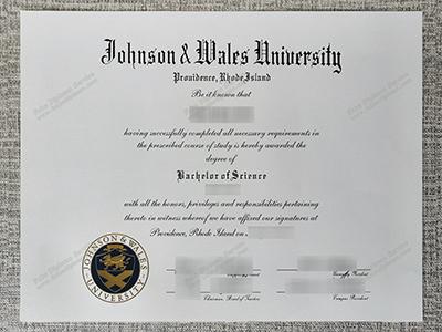Copy Fake Johnson & Wales University Diploma And Transcript