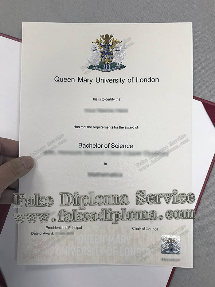 Queen Mary University of London Fake Diploma