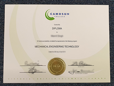 Buy a Fake Camosun College Diploma