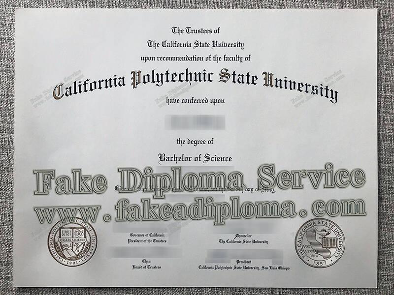 California Polytechnic State University fake diploma