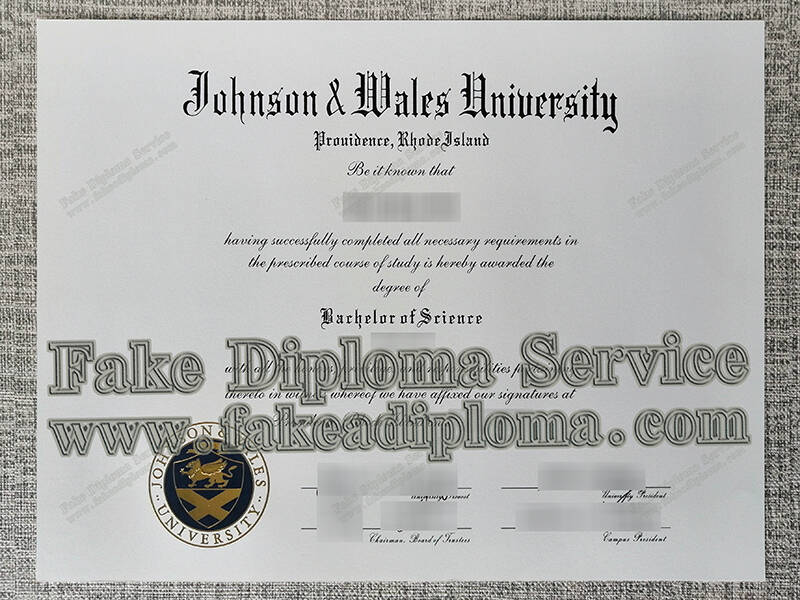 Fake Johnson & Wales University Diploma