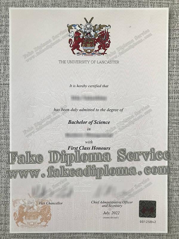 Lancaster University fake diploma certificate