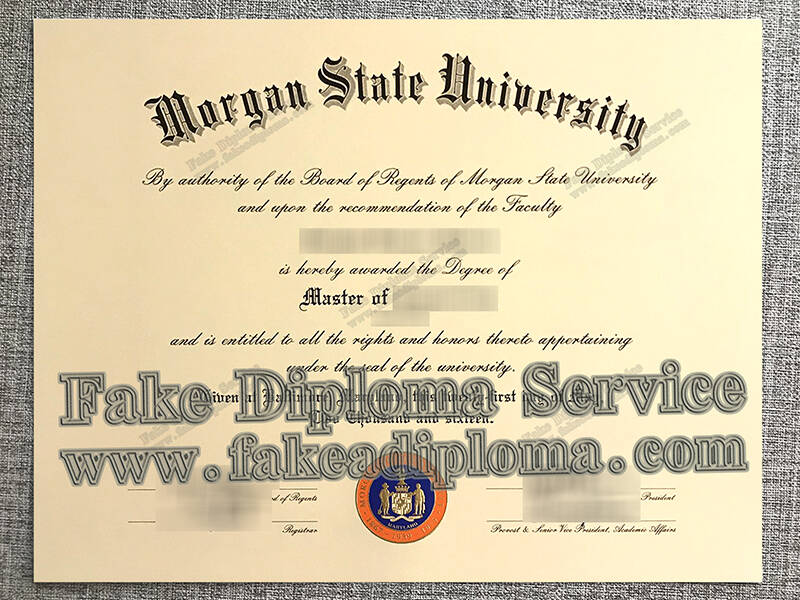 Morgan State University Fake Diploma