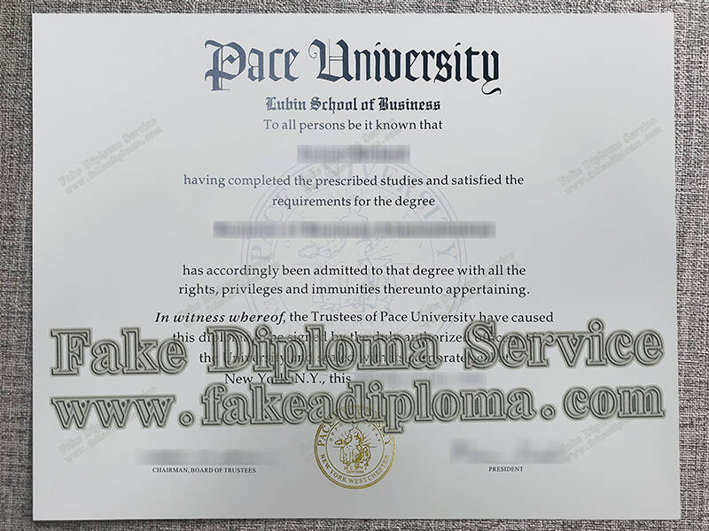 Pace University fake diploma