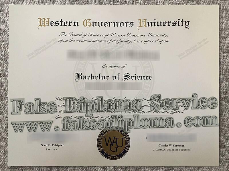 western governors university fake diploma