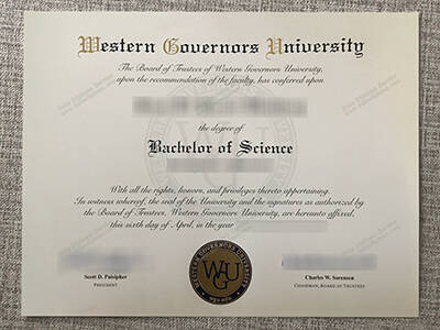 Copy Fake Western Governors University Diploma