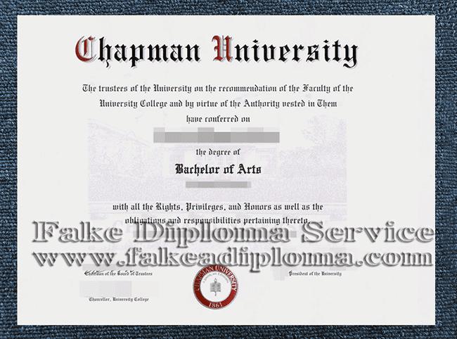fake Chapman University Diploma