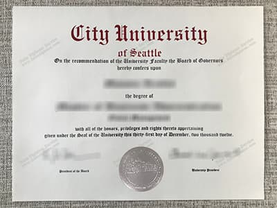 Copy City University of Seattle Fake Diploma, Fake CityU Seattle Degree