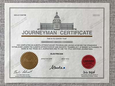 Buy Fake Journeyman Certificate Online, Buy Alberta Fake Certificate