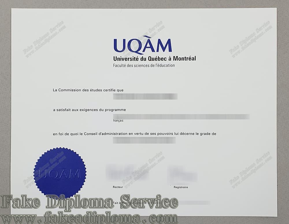 Fake University Of Quebec Diploma, Fake UQAM diploma