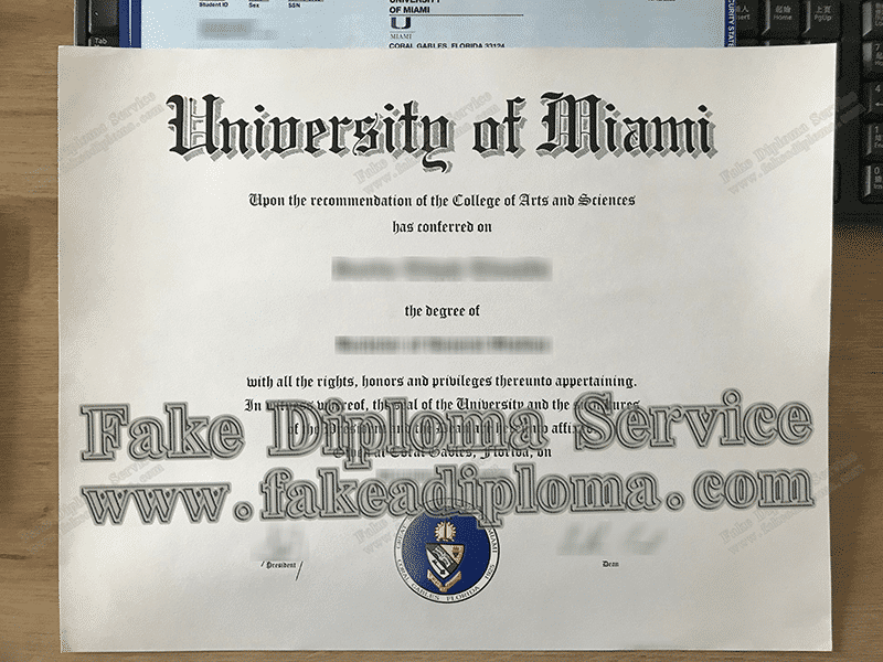 University of Miami Fake Diploma