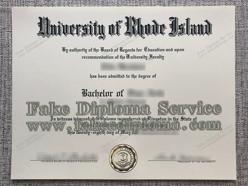 University of Rhode Island fake diploma