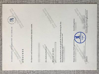 Humboldt University of Berlin Diploma Sample, Buy Germany Diploma