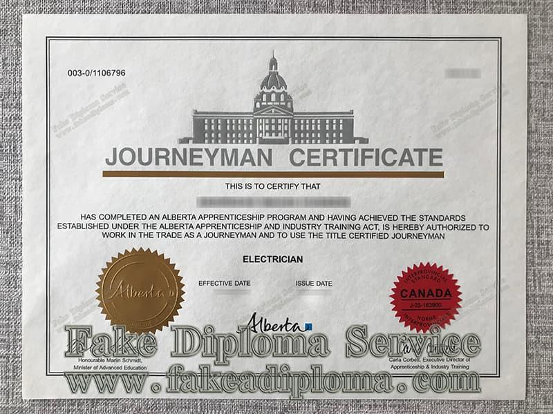 fake JOURNEYMAN-certificate