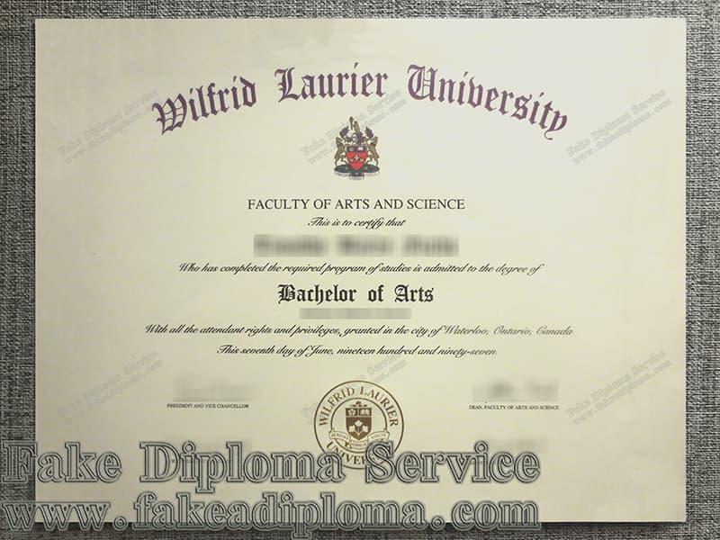 Fake Wilfrid Laurier University Diplomas