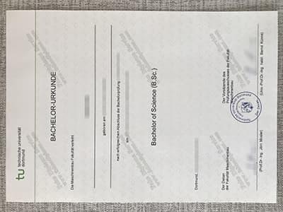 Buy TU Dortmund Diploma, Diplom der Technischen Universität Dortmund