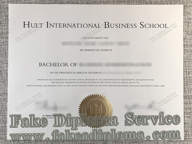 Hult International Business School diploma certificate