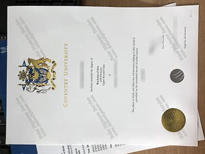 Coventry University Degree Diploma, Plus the Real Seal
