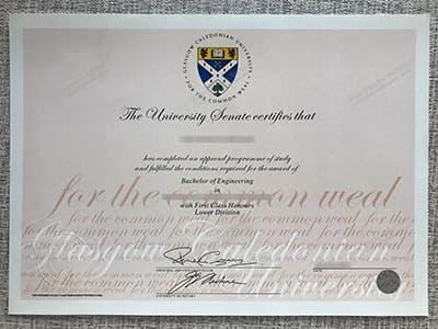 Get Glasgow Caledonian University Diploma, Same as the Original