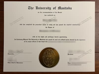 Order A University of Manitoba Diploma Certificate Online