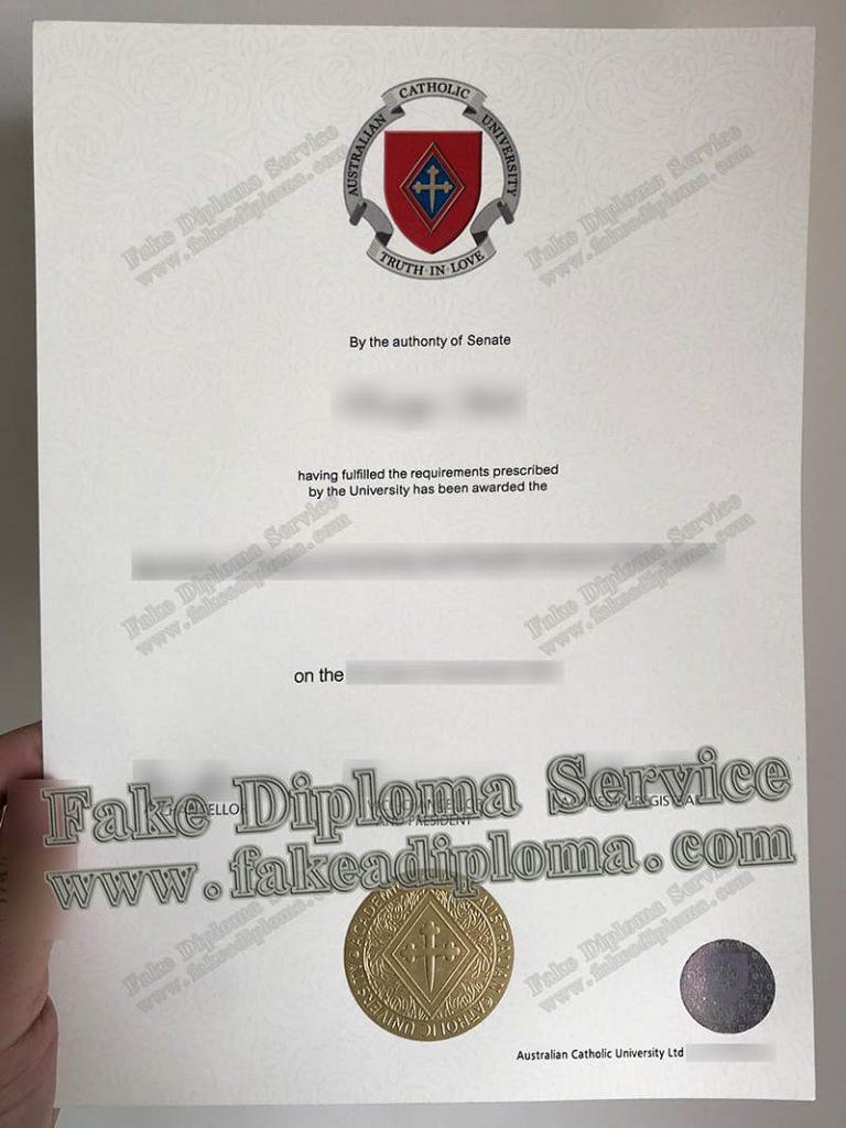 fake ACU diploma, Australian Catholic University diploma