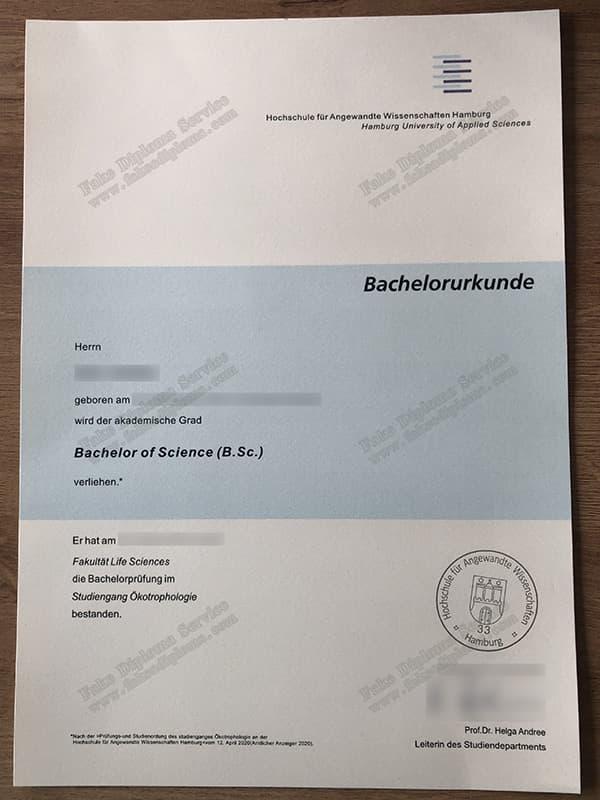 Hochschule für Angewandte Wissenschaften Hamburg diploma, HAW diploma