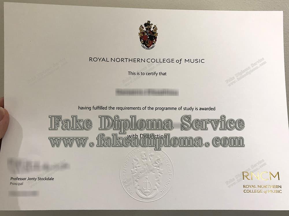 fake RNCM diploma, fake Royal Northern College of Music degree