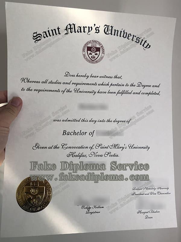 fake Saint Mary's University diploma