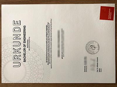 Fachhochschule Dortmund Diploma, Same as the Original one