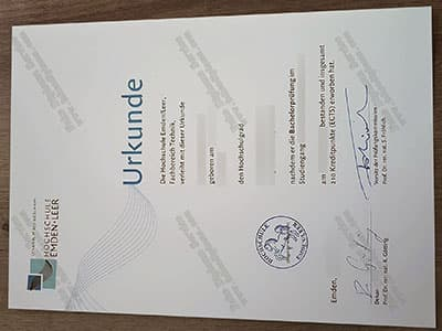 Get a Hochschule Emden/Leer Diploma, University of Applied Sciences Degree