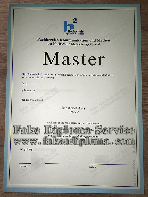 Hochschule Magdeburg Stendal fake diploma