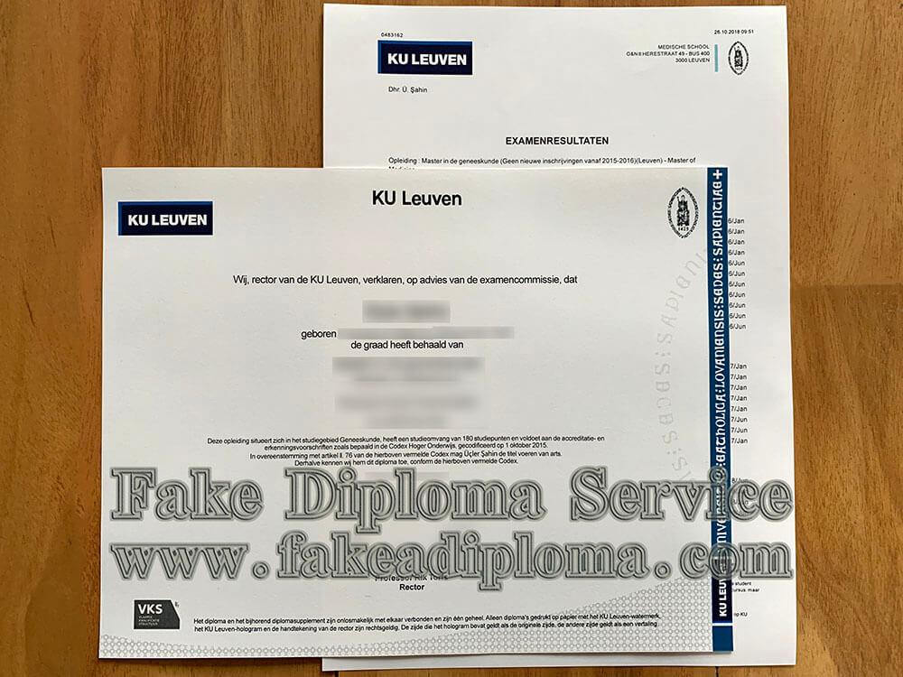 University of Leuven diploma, Katholieke Universiteit Leuven diploma