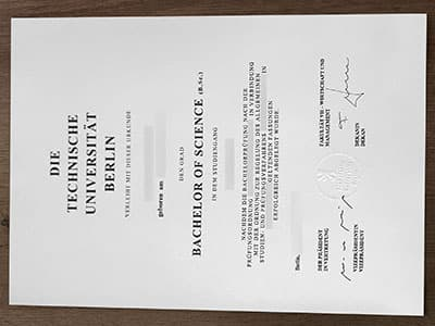 Get Technische Universität Berlin Diploma, buy TU Berlin Degree