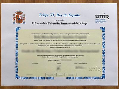 UNIR Diploma, Get Universidad Internacional de La Rioja Degree