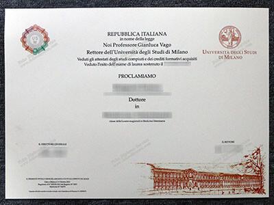 Copy a Università degli Studi di Milano diploma Online