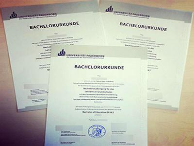 Universität Paderborn Diploma, Same as the Original one