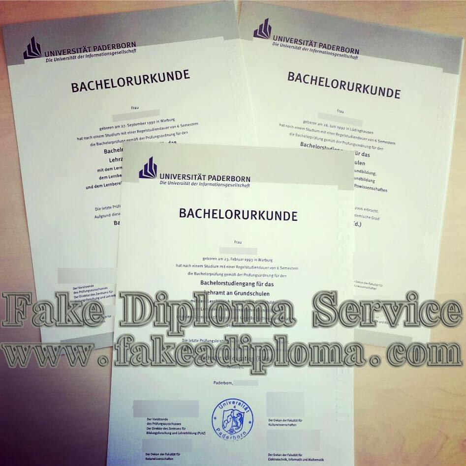 Universität Paderborn fake diploma