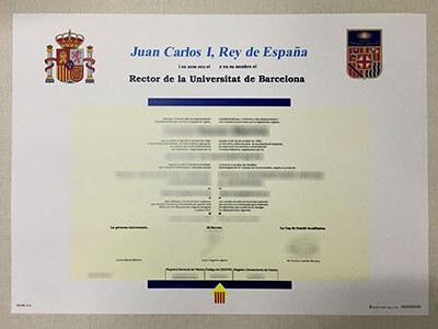 Universidad de Barcelona Diploma, Buy University of Barcelona Diploma