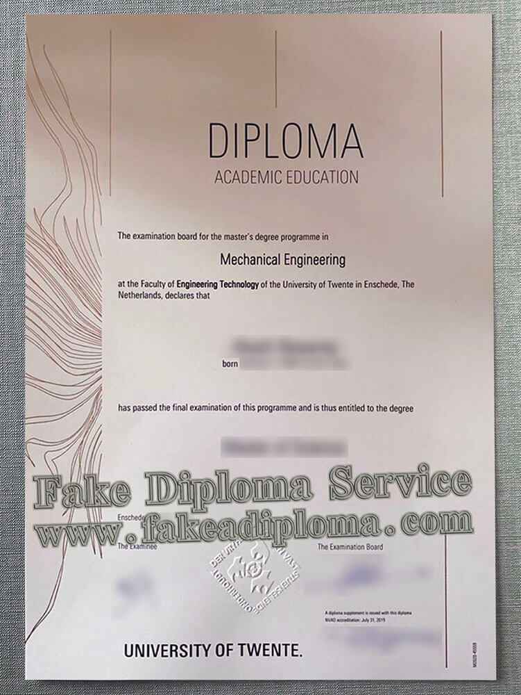 University of Twente diploma, Universiteit Twente diploma, University of Twente degree